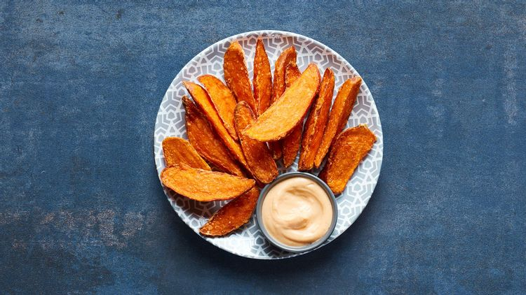 Image of Sweet Potato Wedges with Garlic PERinaise